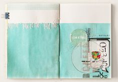 Love this art journal/ artwork (and scrapbook inspiration) by the super-talented Anna-Maria Wolniak.