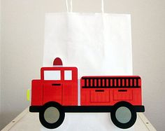 Fire Extinguisher Goody Bags Firetruck Goody Bags by CraftyCue