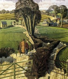 The Composers, Simon Palmer. English, born in This painting really moves me there is something so quintessentially English about it. Landscape Art, Landscape Paintings, Contemporary Landscape, Watercolor Landscape, Imagen Natural, Art For Art Sake, Painting & Drawing, Modern Art, Art Gallery
