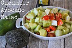 Cucumber Avocado Salad #recipe  Salad recipes with cucumbers.  Salad recipes with Avocados.  Easy Harvest salad recipes