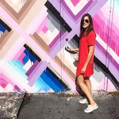 Favourite neighbourhood in #Miami : Wynwood art district  colourfully inspiring #wynwood #art #colorful  #pastel #wall  @julicalo89 #stylesubmit #style