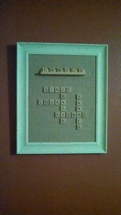 Scrabble craft