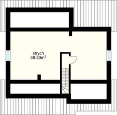 Talia projekt - Poddasze 38.50 m² Bar Chart, Floor Plans, Diagram, Modern, Houses, Trendy Tree, Bar Graphs, Floor Plan Drawing, House Floor Plans