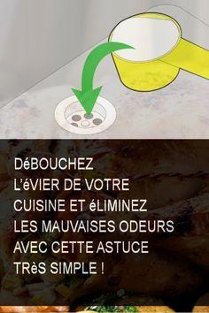 Débouchez l'évier de votre cuisine et éliminez les mauvaises odeurs avec cette astuce très simple ! #Astuce #Vie #Cuisine #Simple #Eliminez #Mauvaise #Odeur #Evier #Mauvaisesodeurs #Mauvais