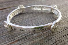 Lord's Prayer Thin Stacking Bracelet