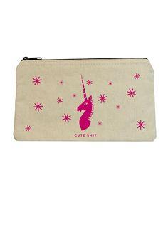 Unicorn Zipper Pouch from Seltzer Goods at Art Effect $14