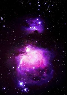 The deep beautiful lush purple & pink  fused colours of the Orion Nebula...resonate throughout our galaxy...