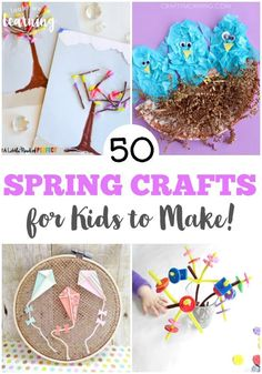 Welcome the sun with these lovely and simple spring crafts for kids!