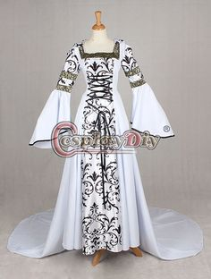 Medieval Victorian Renaissance Dress Gothic Ball Gown Vampire Hooded Costume Custom Made Alternative Measures