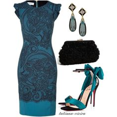 A fashion look from September 2012 featuring Emilio Pucci dresses, Christian Louboutin sandals and Franchi clutches. Browse and shop related looks. Mode Outfits, Dress Outfits, Fashion Dresses, Dress Up, Wine Dress, Classy Outfits, Beautiful Outfits, Elegantes Outfit, Mode Style
