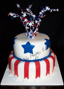 Patriotic Cake | Fourth of July Desserts | Picnic | Desserts | Sample House |