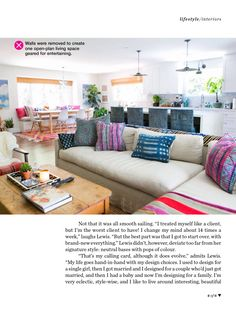 Amber interiors featured in March 2014 Marie Claire AU