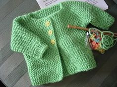 Diy Crafts - Ravelry: Easy Cuff-to-Cuff Infant Sweater pattern by Rae B. Free Baby Sweater Knitting Patterns, Knitted Baby Cardigan, Knitted Baby Clothes, Free Childrens Knitting Patterns, Pull Bebe, Baby Girl Sweaters, Crochet Baby, Baby Jackets, Mermaid Paintings