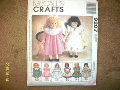 "NIP Uncut Mccall'S Doll Clothes Pattern FOR 18"" Dolls | eBay"
