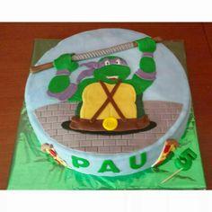 Tarta de la Tortuga Ninja favorita de Pau, Don Atello!!