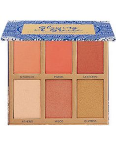 Glowing In Greece - 6 Color Blush & Highlighter Palette High End Makeup Brands, Baked Eyeshadow, Bh Cosmetics, Tan Skin, Eyeshadow Palette, Bath And Body, Glow, Fragrance, Blush