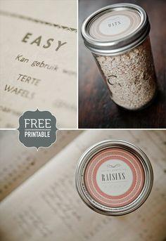 Trendy Diy Crafts With Mason Jars Handmade Gifts Printable Labels Mason Jar Lids, Mason Jar Crafts, Canning Jars, Canning Labels, Cool Ideas, Printable Labels, Free Printables, Labels Free, Classic Pattern