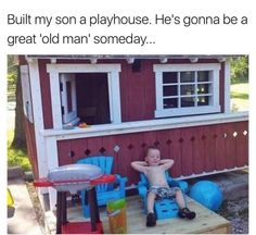 Built my son a playhouse funny pics, funny gifs, funny videos, funny memes, funny jokes. LOL Pics app is for iOS, Android, iPhone, iPod, iPad, Tablet
