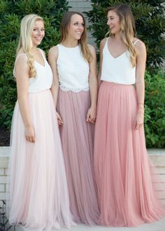 Wedding Party Bridesmaid Skirts Tulle Long Skirt Evening Formal Maxi Skirt S-XXL in Clothes, Shoes & Accessories, Women's Clothing, Skirts Tulle Skirt Bridesmaid, Pink Tulle Skirt, Unique Bridesmaid Dresses, Satin Tulle, Bridesmaid Outfit, Wedding Bridesmaids, Wedding Dresses, Tulle Lace, Tulle Skirts