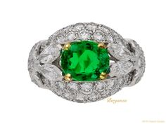 Cartier Paris Natural Colombian Emerald Diamond Gold Cluster Ring For Sale at Diamond Cluster Ring, Emerald Diamond, Diamond Cuts, Emerald Rings, Green Diamond, Diamond Rings, Cartier, Gem Diamonds, Colombian Emeralds