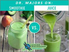Juicing vs. Smoothies! .......which one is best for Cancer patients? Both....because each has a different purpose! The POWER of Juicing! Juicing is done with a slow speed masticating juicer and it extracts as much densely packed NUTRIENTS from your organic produce and removes all the fiber (pulp). What is the benefit of removing all the…