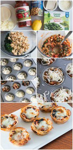#Vegetarian Lasagna Cupcakes