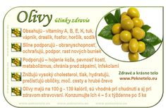 obrazok olivy Fruit Facts, Raw Food Recipes, Healthy Recipes, Dieta Detox, Healthy Fruits, Wellness, Food Art, Natural Health, Health Fitness