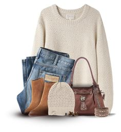 Neutral for Fall by cindycook10 on Polyvore featuring polyvore, fashion, style, La Garçonne Moderne, Wrangler, Sam Edelman, Swarovski, The North Face and clothing