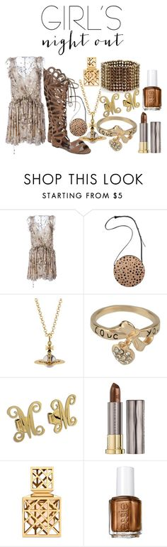 """""""Girl's Night Out Entry"""" by michelle858 ❤ liked on Polyvore featuring Chloé, Minor History, Jérôme Dreyfuss, Urban Decay, Tory Burch, Essie, Summer, sheer, summerstyle and gladiatorsandals"""