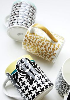 "ELEY KISHIMOTO×Styles NARUMI bone china mugs ""Knit You Like"",""Flash Print"",""Tweed And Roses"""