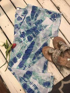 8a9ee999e2 Francescas Blue Floral Swim Coverup M L  fashion  clothing  shoes   accessories