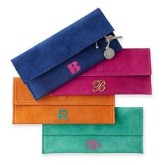 Suede Boho Envelope Clutch, Bright Colors   Mark and Graham