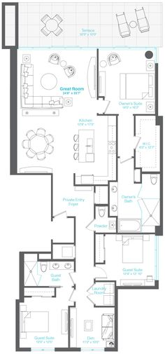 259 best Apartment Plans images on Pinterest in 2018