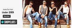 Buy Jeans for Men Under Rs. 399 at Shopclues Buy Jeans, Online Coupons, Stuff To Buy, Men, Shopping, Style, Fashion, Moda, Stylus