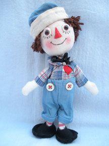 Raggedy Andy felt doll by Jody Battaglia