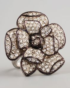#Neiman Marcus            #ring                     #Pave #Flower #Ring       Pave Flower Ring                                    http://www.seapai.com/product.aspx?PID=517571