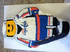 Washington Capitals Lego man cake - Andrew should have never given me free reign on the cake