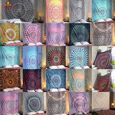 Mandala Tapestry Indian Wall Hanging Decor Bohemian Hippie Queen Bedspread Throw | eBay