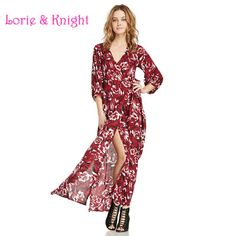 Female Bohemia Flower Printing Chiffon Long Dress V-Neck Summer Travel Beach Dress Find More Dresses Information about Female Bohemia Flower Printing Chiffon Long Dress V Neck Summer Travel Beach Dress,High Quality dresse,China dresses with empire waist Suppliers, Cheap dress loops from Lorie & Knight on Aliexpress.com