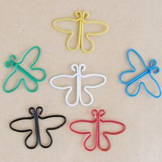 Butterfly shaped paper clip