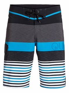 Quiksilver Mens Lean and Mean Traceable Recycled 4 Way Stretch Boardshort LeanMean Black Stripe 32 <3 Clicking on the image will lead you to find similar product