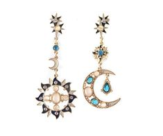 Sun and Moon drop earrings by LIONTWINS on Etsy, £12.99