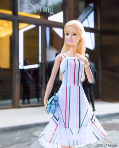 Always feminine and optimistic, @tanyataylor's designs make me happy! Honored to attend her #NYFW show wearing this look straight from her Spring/Summer 2018 runway. #barbie #barbiestyle