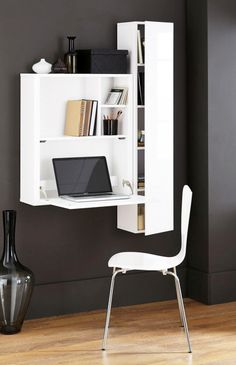 Buy Valencia White Drop Down Desk from the Next UK online shop units for bedroom with study table Office Desks Space Saving Desk, Space Saving Furniture, Home Decor Furniture, Furniture Design, Desk Space, Drop Down Desk, Study Table Designs, Woodworking Desk Plans, Wall Desk