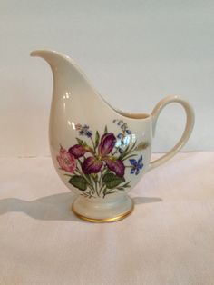 Franciscan Fine China Mariposa Creamer, Vintage, Collectible, Floral, Gold Trim, Tableware, Made In California, by Sunshineoftreasures on Etsy