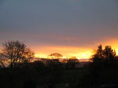 The photograph was taken from the bedroom window of our Shropshire home at 9.00 am on 2nd December 2014.