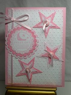 SU So Many Scallops, Scallop punch, nesties scalloped circles, sizzix stars, CB swiss dots