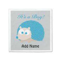 It's a Boy! Hedgehog Standard Cocktail Napkin