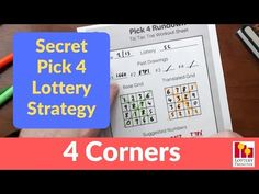Secret Lottery Strategy To Win Pick 4 - February 2019 Lottery Pick, Lottery Games, Workout Sheets, Lottery Strategy, Winning Lottery Numbers, Secret Code, Things To Know, February, Pick 3