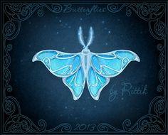 Butterflies - Snow Moth by Rittik.deviantart.com on @deviantART